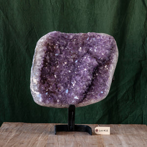 Polished Amethyst Druze on Iron Base, G237