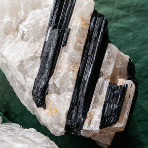 Tourmaline on Quartz Matrix, 3 pcs, G257