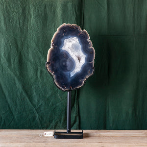Oversized Agate on Stand, G275