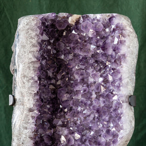 Polished Amethyst Druze on Iron Base, G230