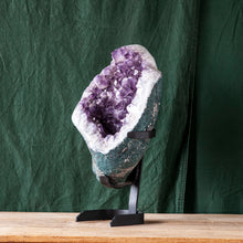 Load image into Gallery viewer, Polished Amethyst Druze on Iron Base, G234