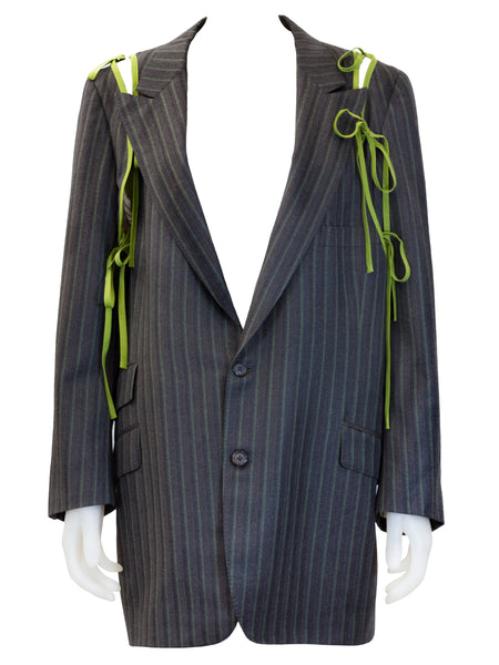 Thee Apron Blazer in Grey