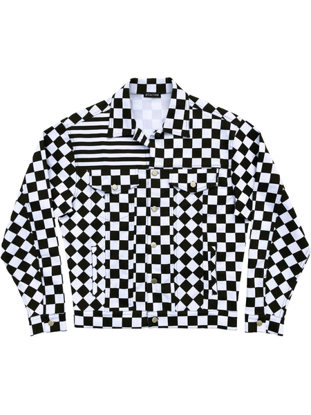 Stripes & Checkers Random Panel Jacket Combo 2