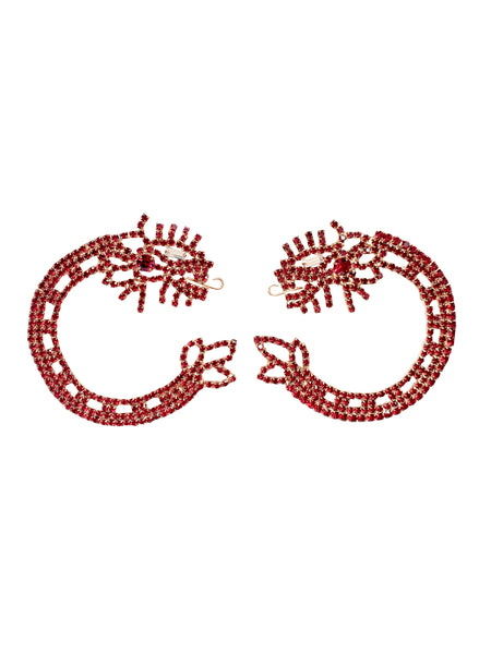 Quetzalcoatl Circle Earrings