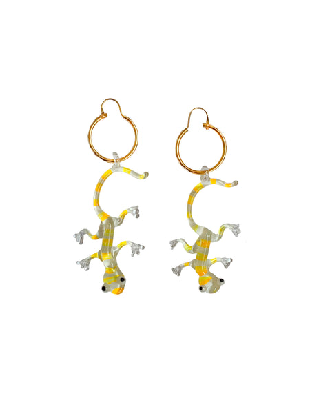 Yellow & Orange Gecko Earrings