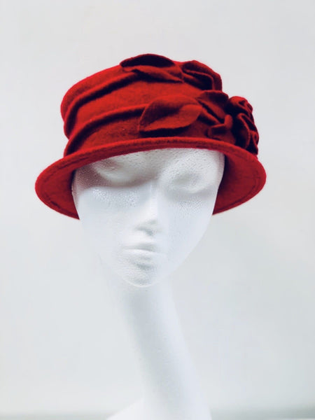 Super Soft Red Bucket Hat