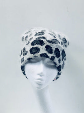 Grey Animal Print Hat