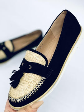 "No.19""MARCY"" Black/Beige Brogue"