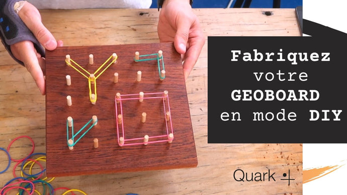 Make a wooden geoboard for children in DIY mode