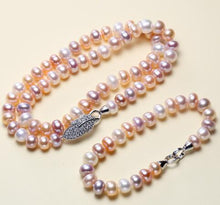 Load image into Gallery viewer, SAGITARIA Pearl Necklace & Bracelet Set - 4 Colours Available! - Pompous Peacock