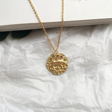 Load image into Gallery viewer, ZODIAQUE Necklace Pendant - 12 Signs Available! - Pompous Peacock