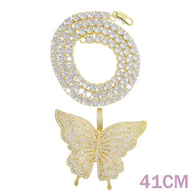 Load image into Gallery viewer, BUTTERFLY GLAM Luxe Pendant Tennis Necklace - 3 Colours Available! - Pompous Peacock
