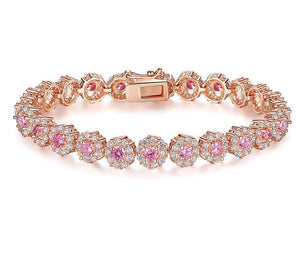 BLAKE Luxe Cz Gold Plated Bracelet - 7 Colours Available! - Pompous Peacock