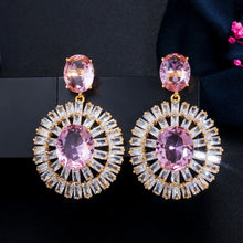 Load image into Gallery viewer, MARIGOLD Luxe Cz Gold Plated Drop Earrings - Pompous Peacock