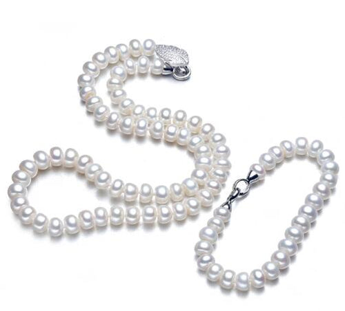 SAGITARIA Pearl Necklace & Bracelet Set - 4 Colours Available! - Pompous Peacock