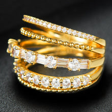 Load image into Gallery viewer, LAYLA Luxe Gold Plated 5 in 1 Stackable Rings - 6 Colours Available! - Pompous Peacock