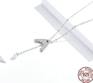 JAWS 925 Sterling Silver Pendant Necklace - Pompous Peacock