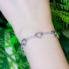 Load image into Gallery viewer, SWEETHEART Heart Chain Link Bracelet - 2 Colours
