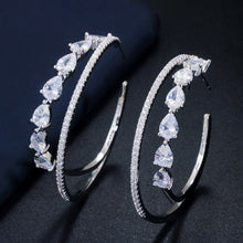 Load image into Gallery viewer, MIAMI LUXE CZ Hoop Earrings - 3 Colours Available! - Pompous Peacock