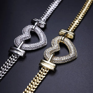 SERAPHINA Luxe Cz Heart COLLECTION - 6 Different Styles! - Pompous Peacock