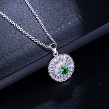 Load image into Gallery viewer, MONTECARLO Luxe Cz Pendant Necklace - 4 Colours Available! - Pompous Peacock