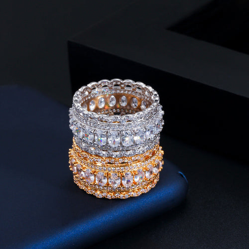 ARIEL LUXE Gold Plated Cz Ring - 2 Colours Available! - Pompous Peacock