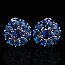 Load image into Gallery viewer, PETAL FLOWER Cz Stud Earrings - 4 Colours Available! - Pompous Peacock
