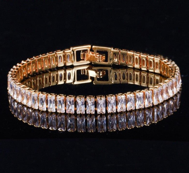 GIGI Luxe Glam Tennis Bracelet - 2 Colours Available! - Pompous Peacock