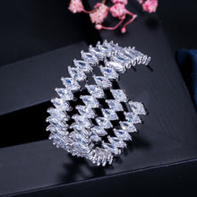 Load image into Gallery viewer, MARQUESA Luxe Marquise Cut Cz Glam Hoop Earrings - Pompous Peacock