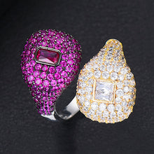 Load image into Gallery viewer, RIVERA Luxe Cz Gold Plated Ring Set - 14 Colour Sets Available! - Pompous Peacock