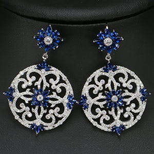 AZULEJOS LUXE Cz Earrings - 4 Colours Available! - Pompous Peacock
