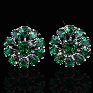PETAL FLOWER Cz Stud Earrings - 4 Colours Available! - Pompous Peacock