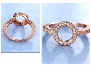CIRCLE FOREVER Cz Ring - 2 Colours Available! - Pompous Peacock