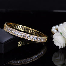 Load image into Gallery viewer, SEREIA Luxe Cz Plated Tennis Bangle Bracelet - Pompous Peacock