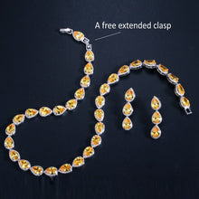 Load image into Gallery viewer, GALA Luxe Gold Plated Cz Tennis Jewelry Set - 3 Colours Available! - Pompous Peacock