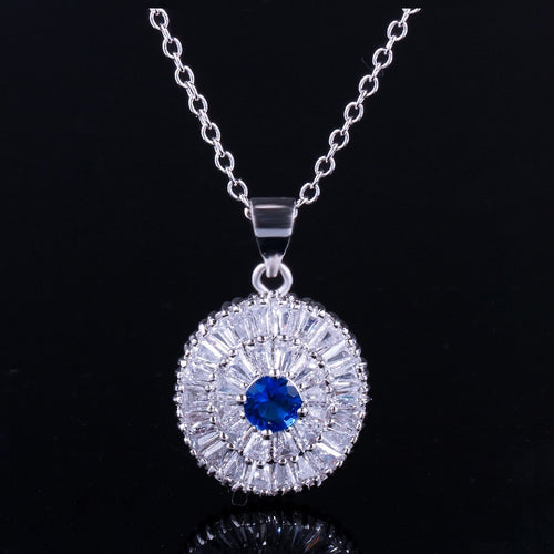 MONTECARLO Luxe Cz Pendant Necklace - 4 Colours Available! - Pompous Peacock