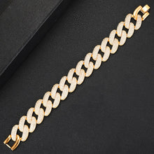 Load image into Gallery viewer, PRISCILLA Luxe Gold Plated Cz Chain Link Bracelet - Pompous Peacock