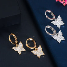 Load image into Gallery viewer, BUTTERFLY Tennis Gold Plated Jewelry 3 Piece Set - Pompous Peacock