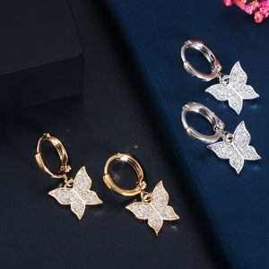 BUTTERFLY Tennis Gold Plated Jewelry 3 Piece Set - Pompous Peacock
