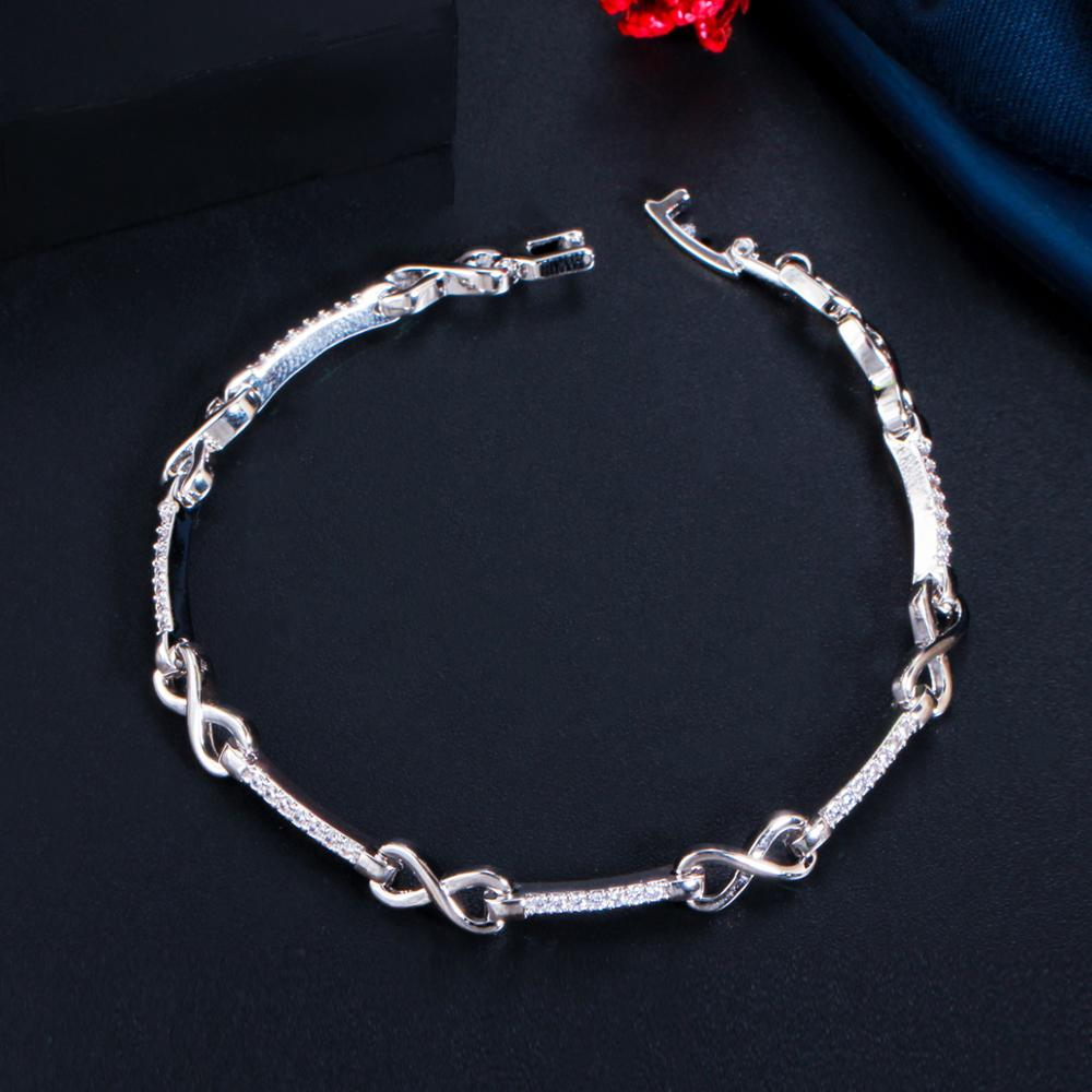 INFINITY Glam Silver Plated Bracelet - 2 Colours Available!