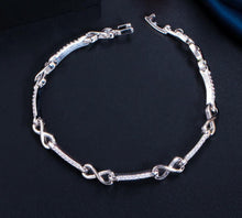 Load image into Gallery viewer, INFINITY Glam Silver Plated Bracelet - 2 Colours Available!