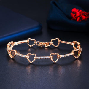 SWEETHEART Heart Chain Link Bracelet - 2 Colours