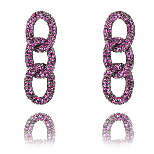SOPHIE Luxe Chain Link Earrings - 5 Colours! - Pompous Peacock