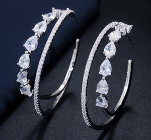 MIAMI LUXE CZ Hoop Earrings - 3 Colours Available! - Pompous Peacock