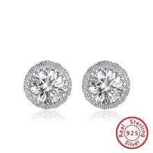 Load image into Gallery viewer, SPARKLE Cz 925 Sterling Silver Stud Earrings & Necklace COLLECTION - Pompous Peacock