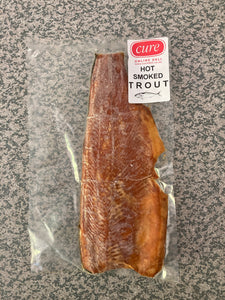 Hot smoked trout (side)