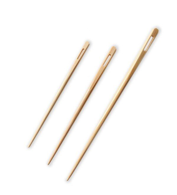 Kinki Amibari SeeKnit Shirotake Bamboo Blunt Needles (Includes 3 Sizes), 3pc.