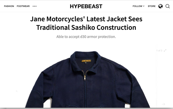 Hypebeast X JANE Motorcycles Shashiko Mechanic's Jacket