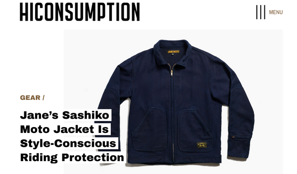 Hi Consumption x JANE Motorcycles Shashiko Mechanic's Jacket