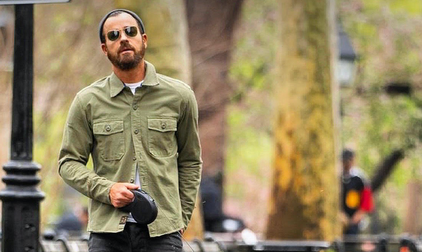 Justin Theroux in JANE Mercer Riding Shirt